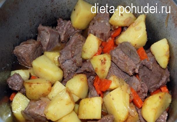 Жаркое по русски - калорийность и рецепт