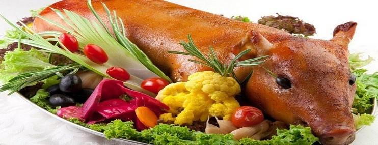 Рецепт поросенка фаршированного, сколько калорий в свинине