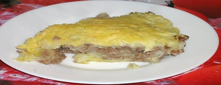 Рецепт картофельной запеканки с фаршем и ее калорийность