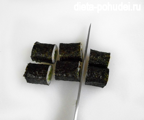 Рецепт и калорийность роллов с огурцом