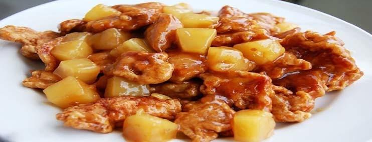 Курица с ананасами — рецепт с фото и калорийность