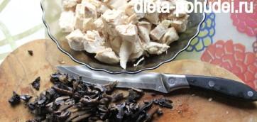 Калорийность и рецепт ризотто с курицей и грибами