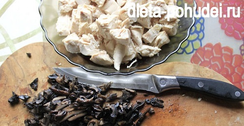 Рецепт ризотто с курицей и грибами