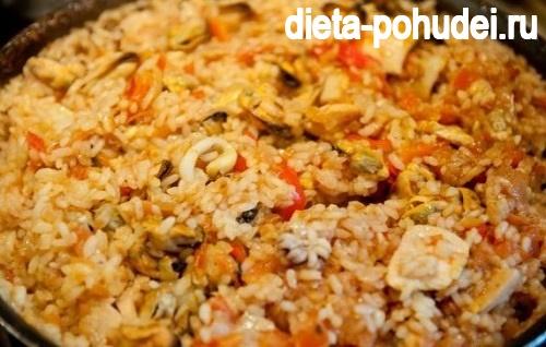 калорийность и рецепт паэльи
