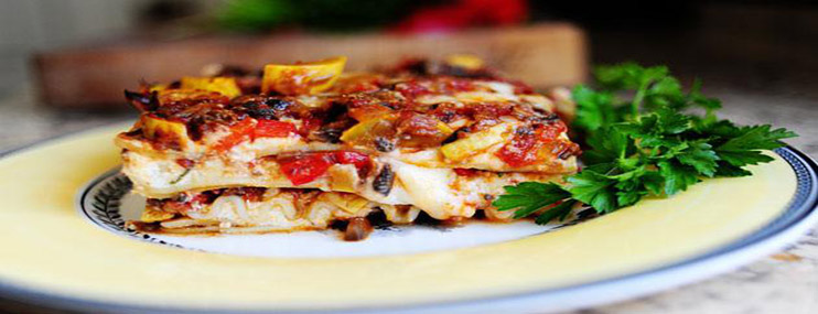 Овощная лазанья – рецепт с фото и калорийность