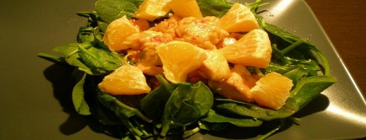 Салат из куриной грудки с апельсином – рецепт и калорийность