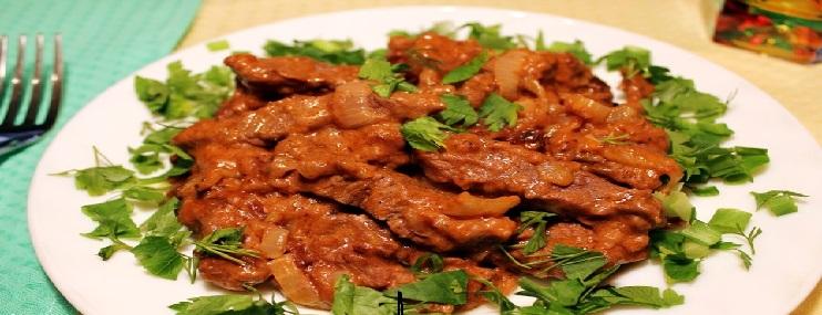 Бефстроганов из говядины – рецепт приготовления и калорийность