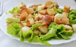 Цезарь салат рецепт пошагово