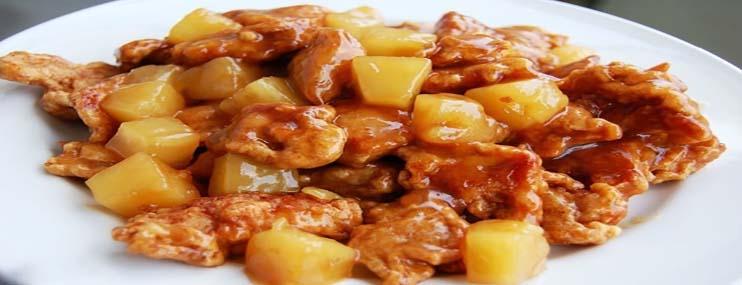 Курица с ананасами – рецепт с фото и калорийность